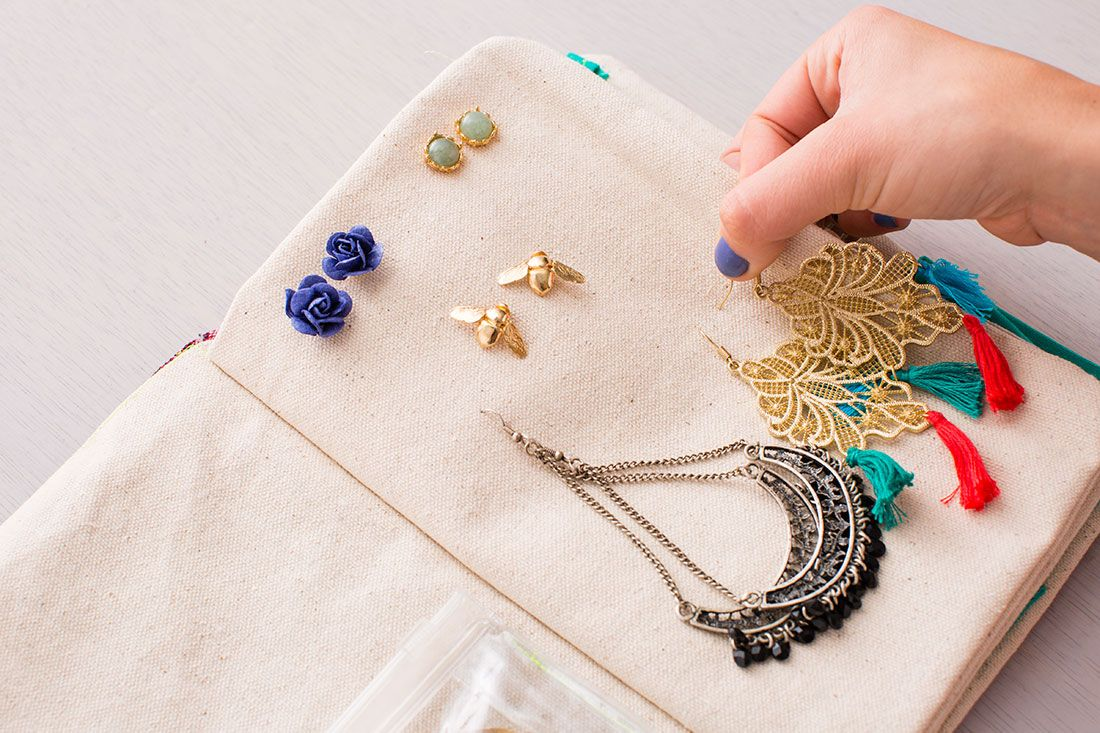 Style OntheGo How to Make a DIY Travel Jewelry Organizer Travel