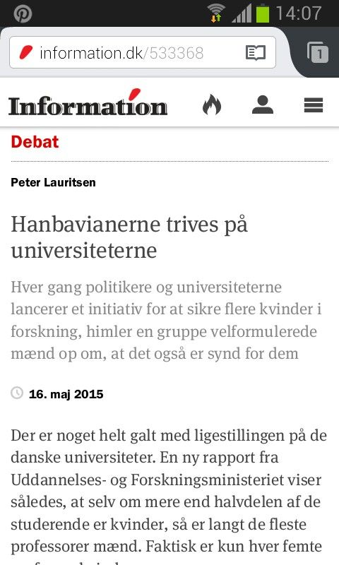 Hanbavianerne trives på universiteterne. http://www.information.dk/533368