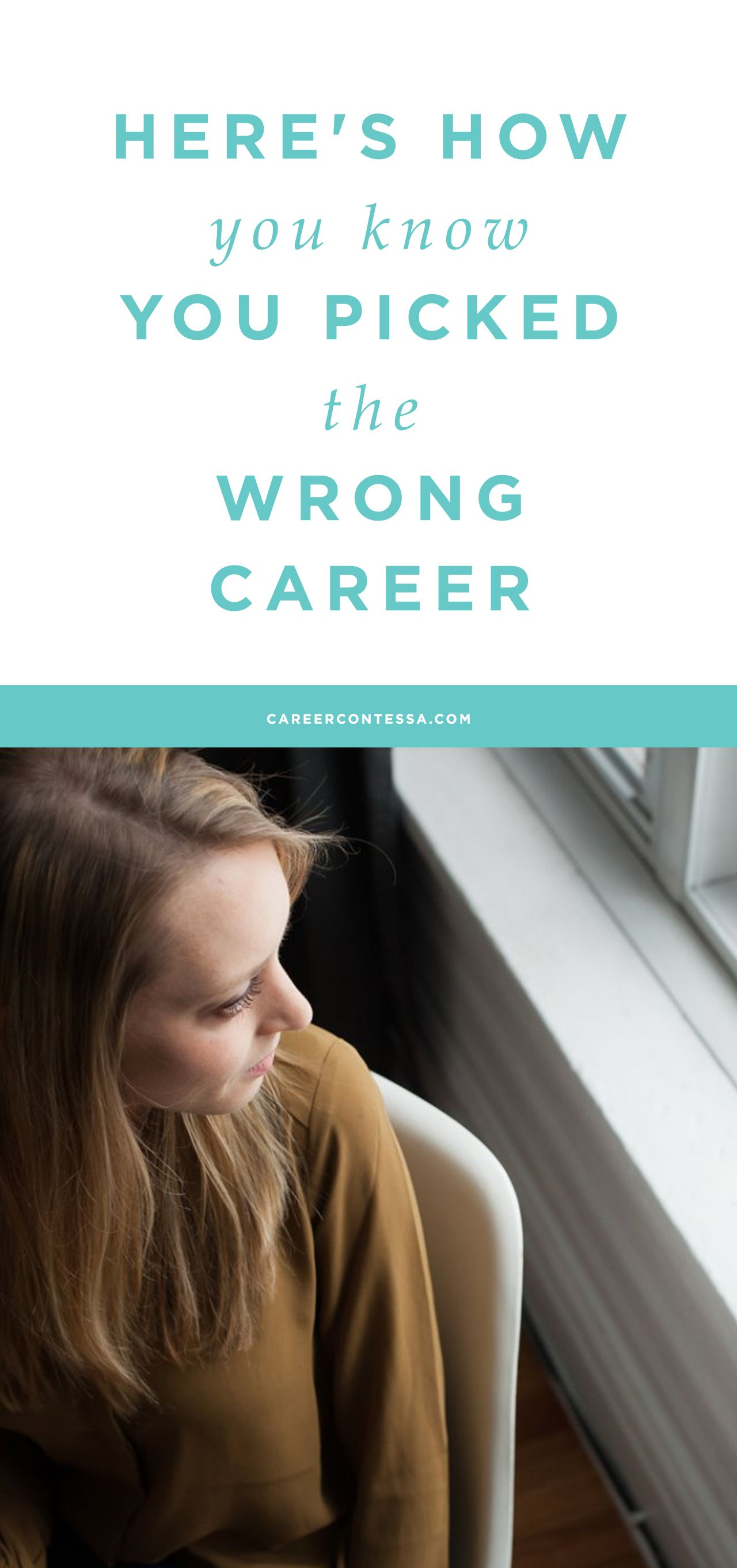 Wrong job or wrong career