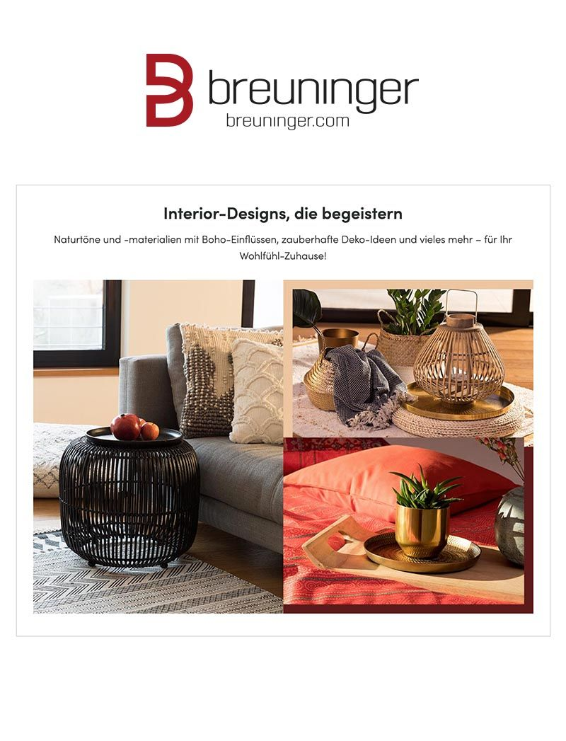 Breuninger Homeandliving Modernliving Bohemianfeeling