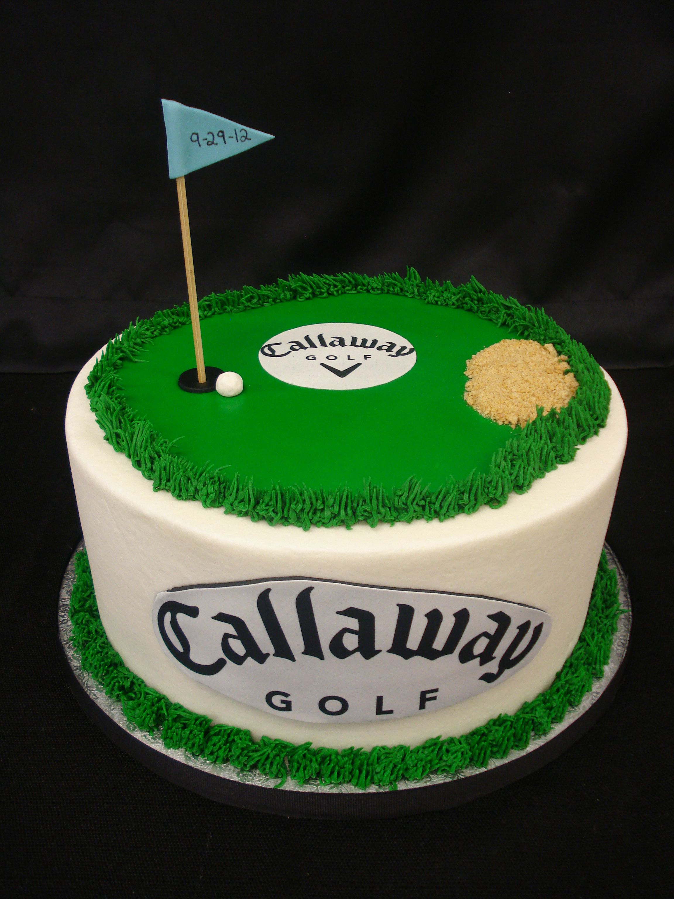 Sensational Callaway Golf Coure Inspired Creative Cake By Party Flavors Custom Personalised Birthday Cards Beptaeletsinfo