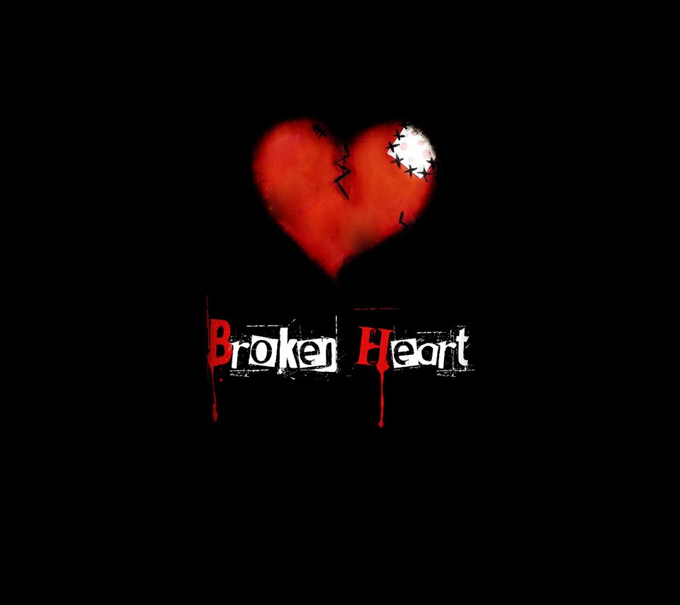 Black Broken Heart love,heart,heartbreak,broken heart