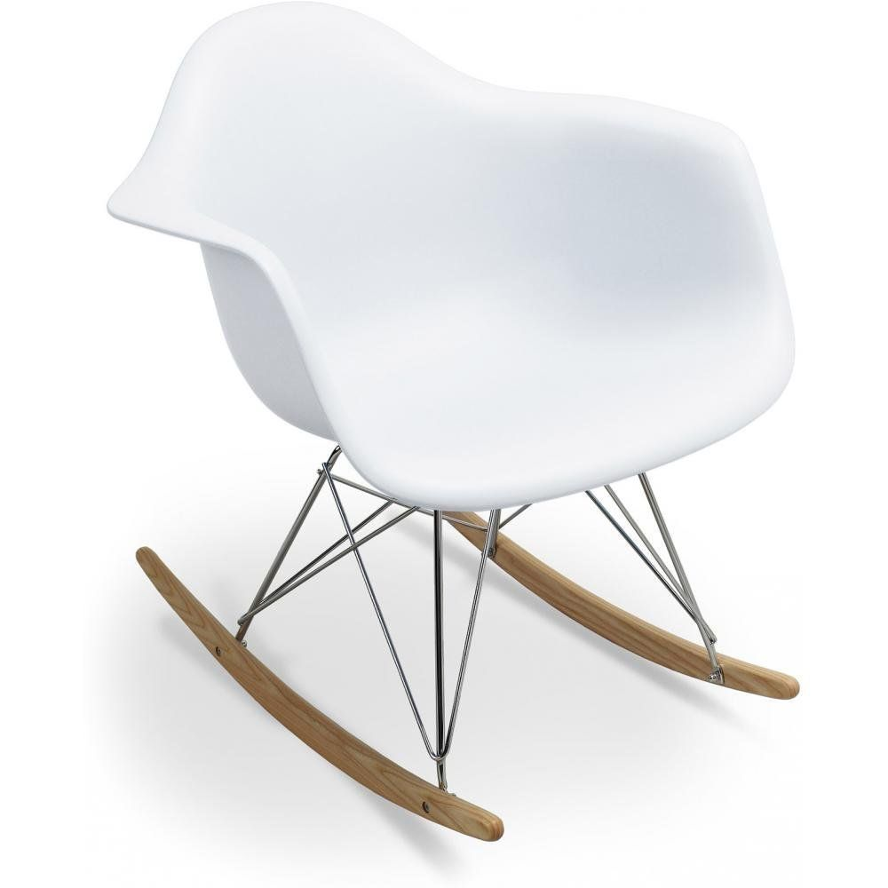 lot de 2 x fauteuil à bascule rocking chair inspiré charles eames ... - Chaise A Bascule Eames 2