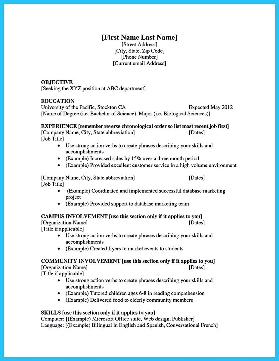 Student Work Experience Resume Sample The Ultimate Revelation Of Student Work Experience Res Job Resume Template Job Resume Examples First Job Resume
