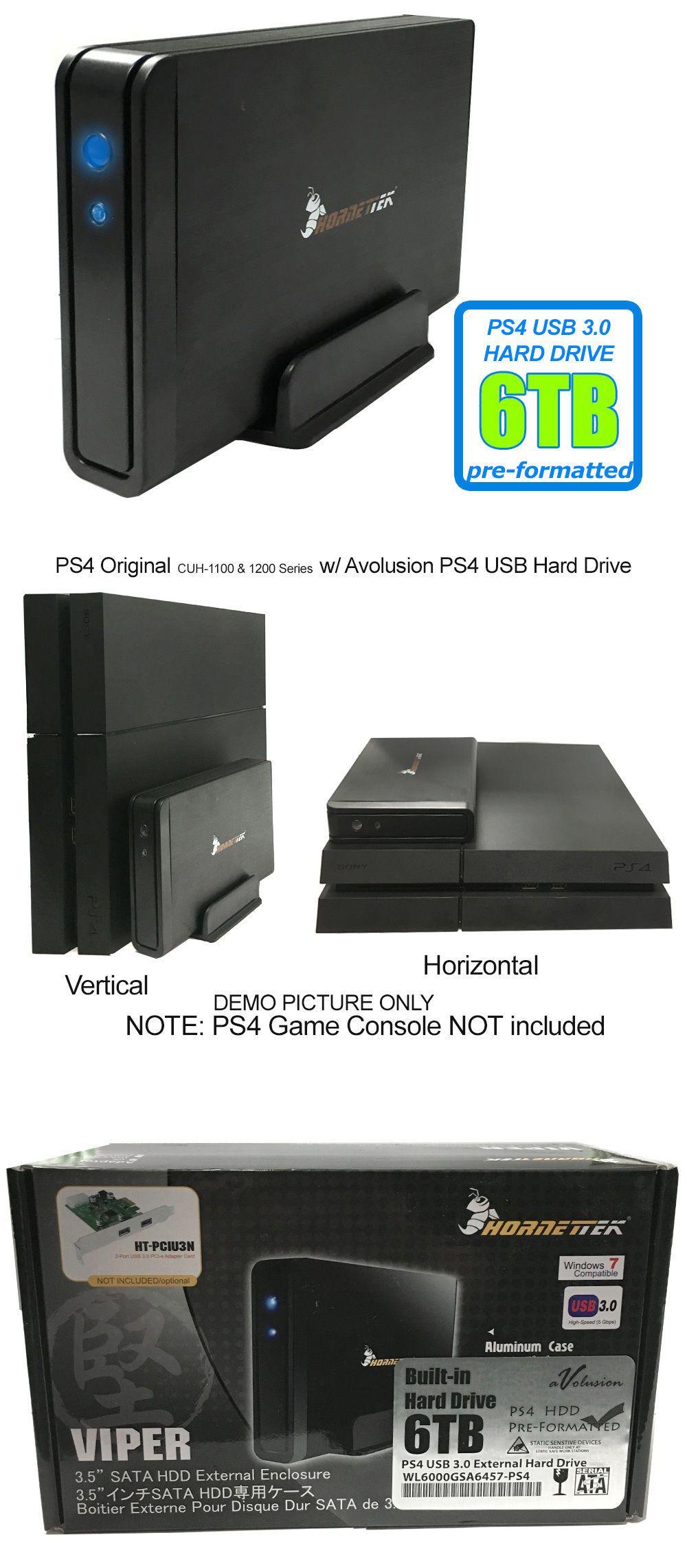 Hornettek Viper 6tb Usb 3 0 External Ps4 Hard Drive For Ps4 Ps4 Slim Ps4 Pro Ps4 Hard Drive Hard Drive Xbox Hard Drive