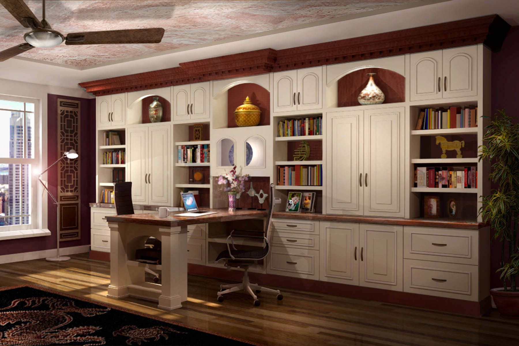 Amazing Custom Home Office  Office Room Decorating Ideas Small