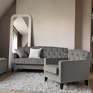 Eaton Sofa   Silver U0026 Stone | The White Company