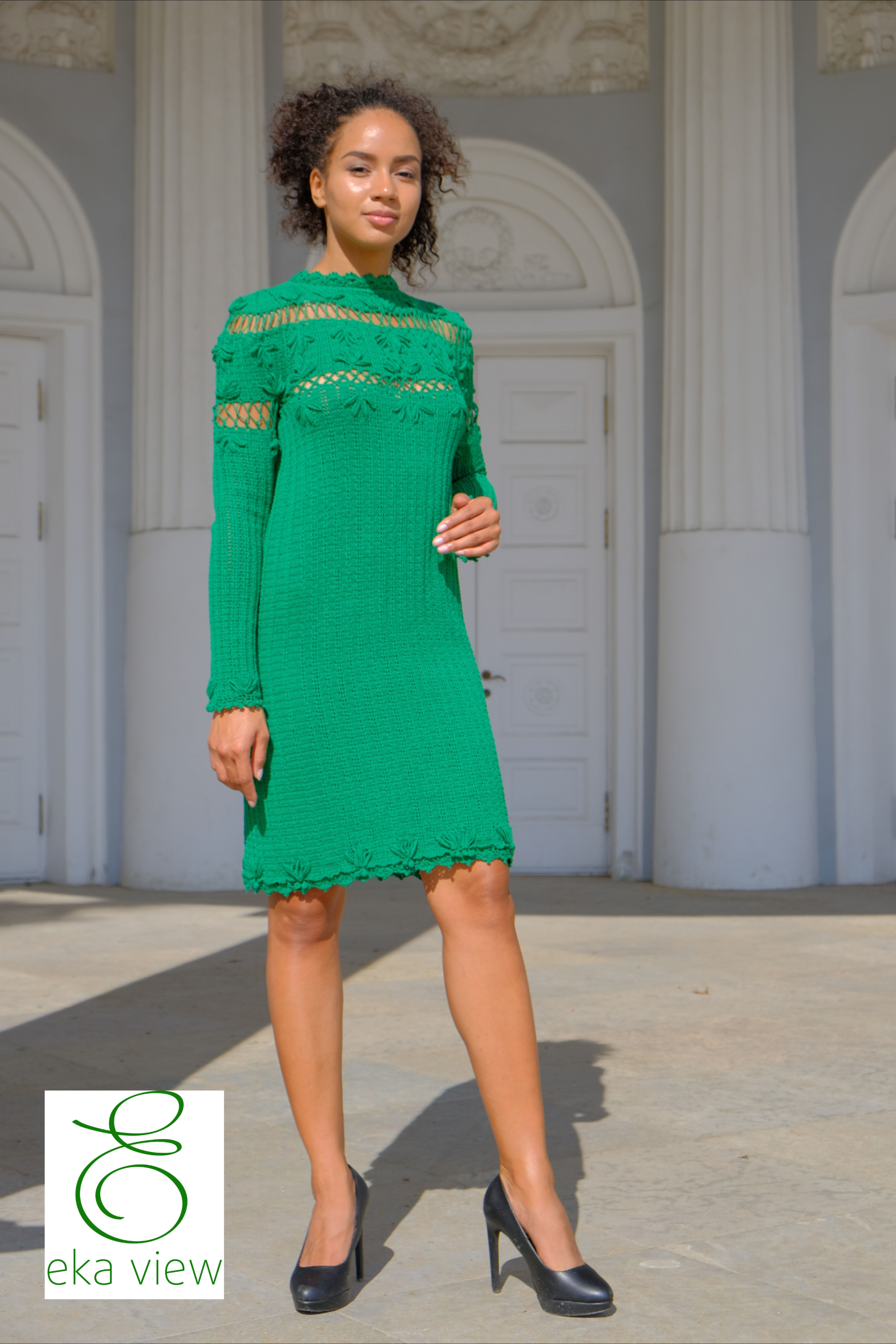 Crochet Straight Fitted Dress Dark Green Occasion Dress With Etsy In 2021 Bright Dress Casual Style Outfits Strapless Bodycon Dress [ 9000 x 6000 Pixel ]