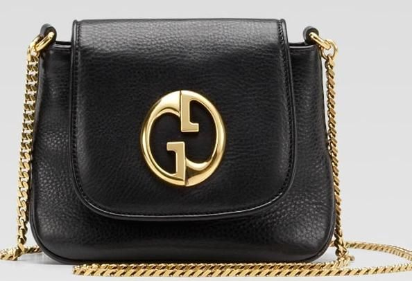 'gucci 1973′ small shoulder bag with double g detail