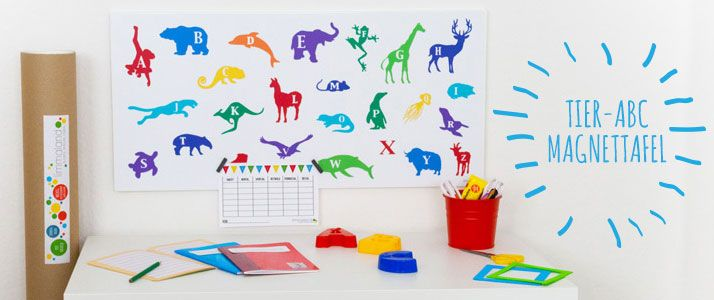Magnetwand Ikea geschenkidee zum schulanfang tolle tier abc magnetwand ikea hack