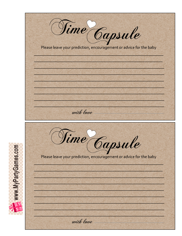photograph relating to Time Capsule Printable referred to as Absolutely free Printable Playing cards for Youngster Year Capsule Cost-free Printable