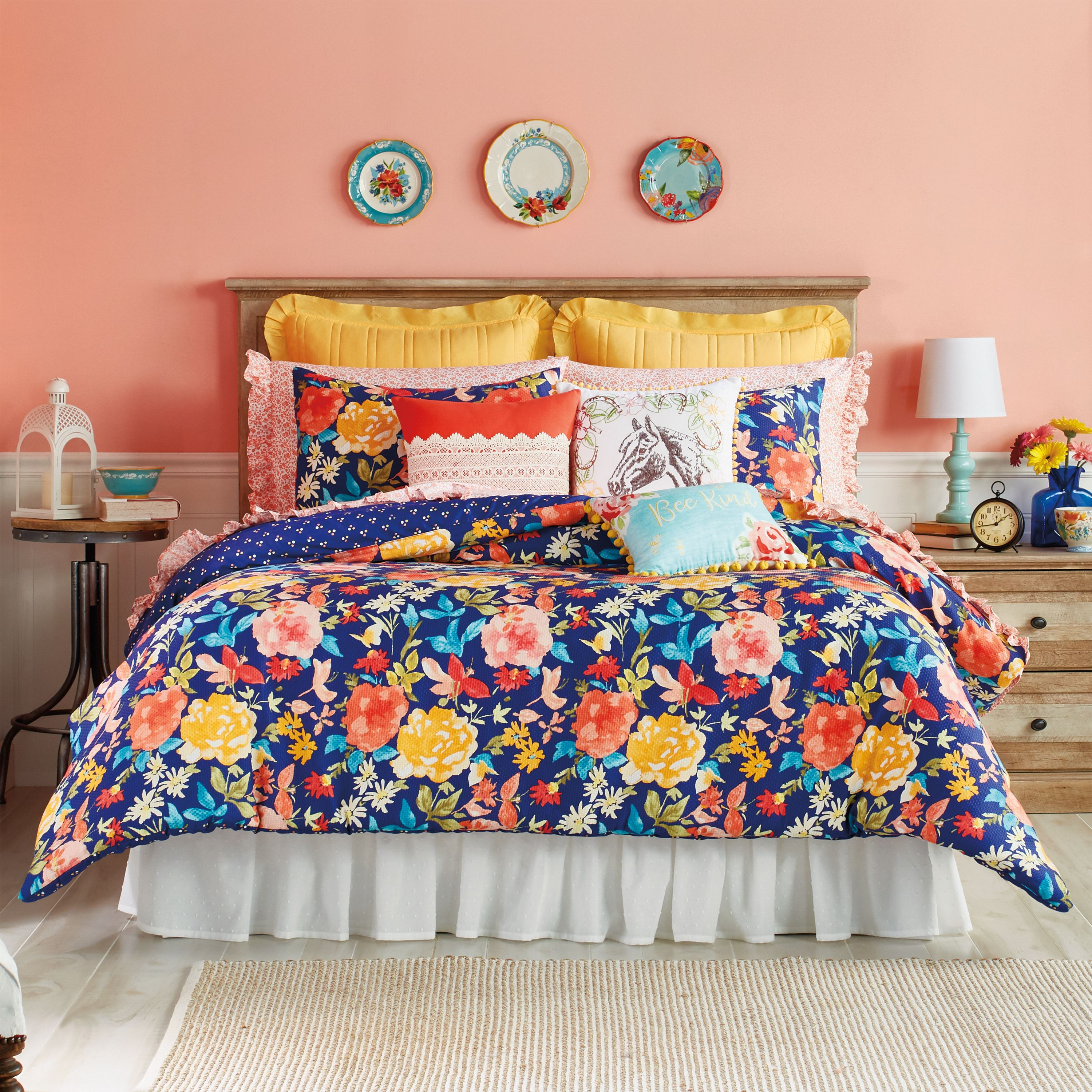 The Pioneer Woman Fiona Floral Comforter   Walmart.com in 2021   Floral comforter, Woman bedroom ...