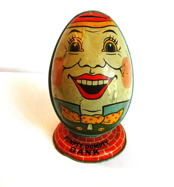 Antique+Humpty+Dumpty+1930s+Tin+Litho+Still+by+TheWanderingBear,+$95.00