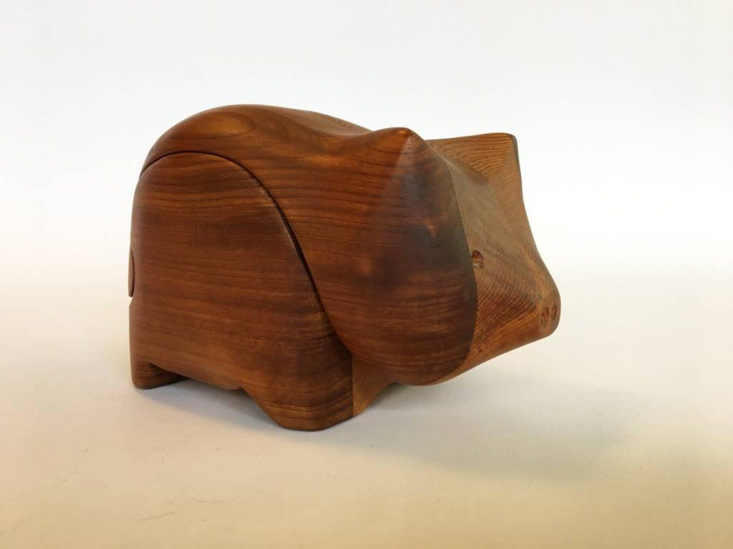 Small Teak Jewelry Box by Studio Artist Deborah Bump Bump Teak