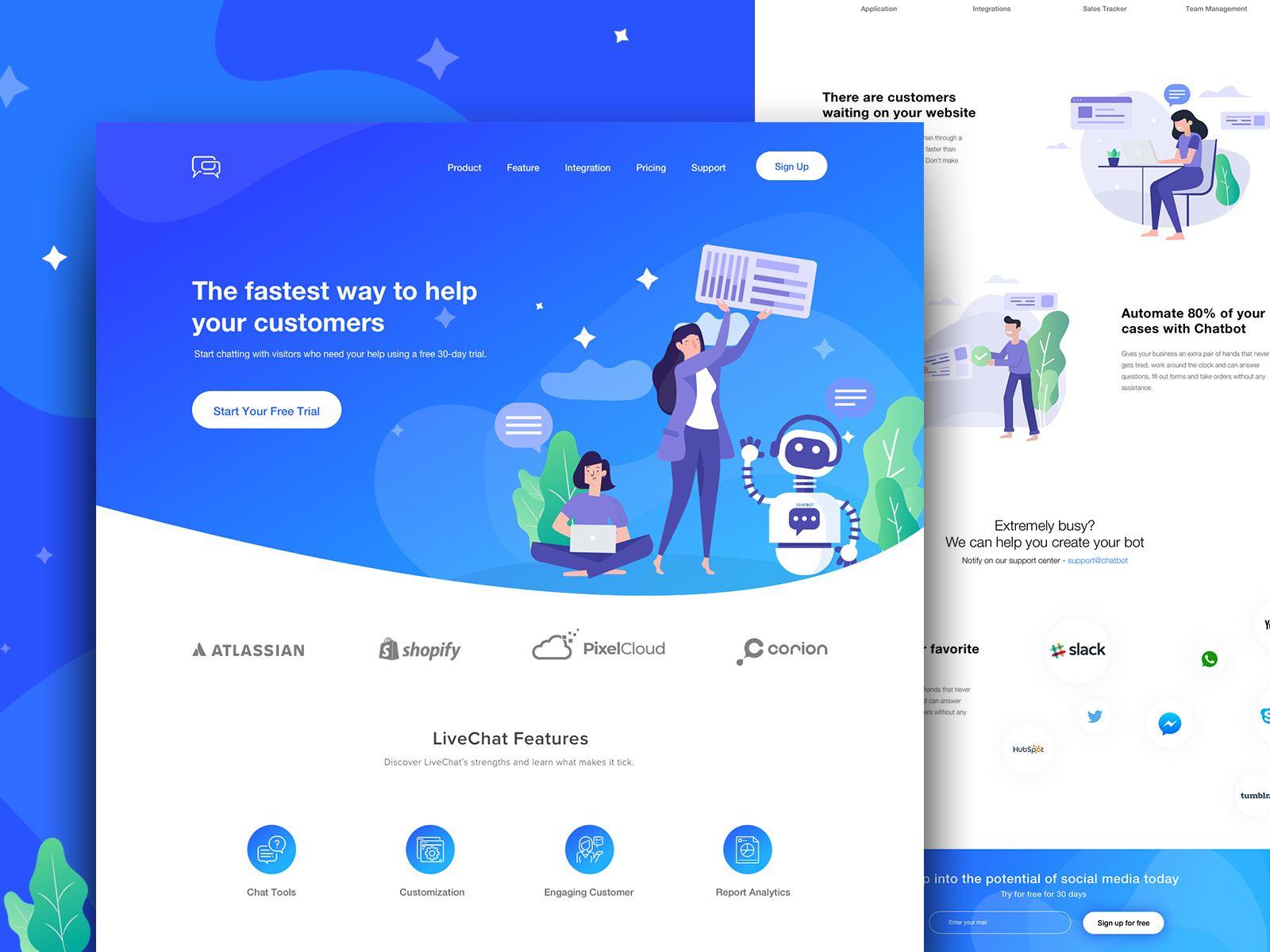Landing Page Web Design Chatbot Design Web App Design