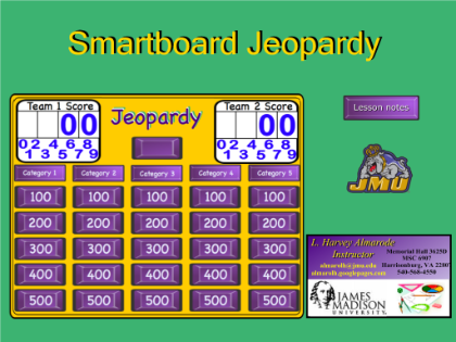 Jeopardy  A Jeopardy Game Template To Be Used For A Chapter
