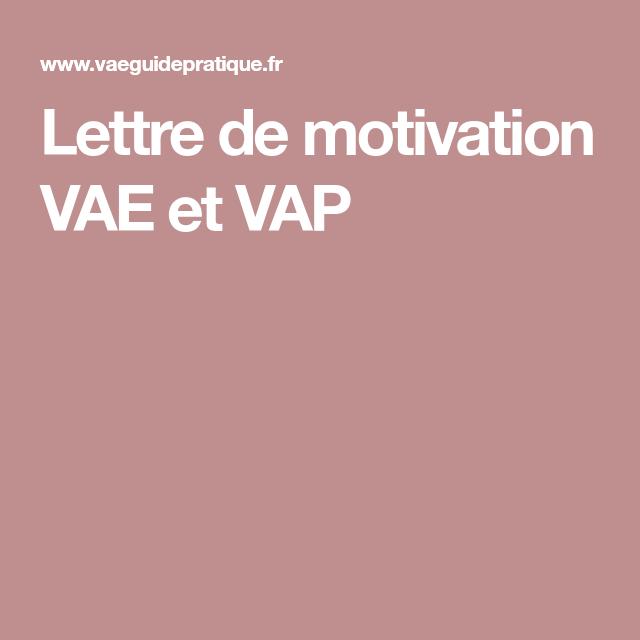 Lettre De Motivation Vae Et Vap Vae Lettre De Motivation