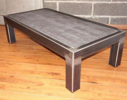 Table Basse Beton Metal Nado Poprobovat Table Basse Acier