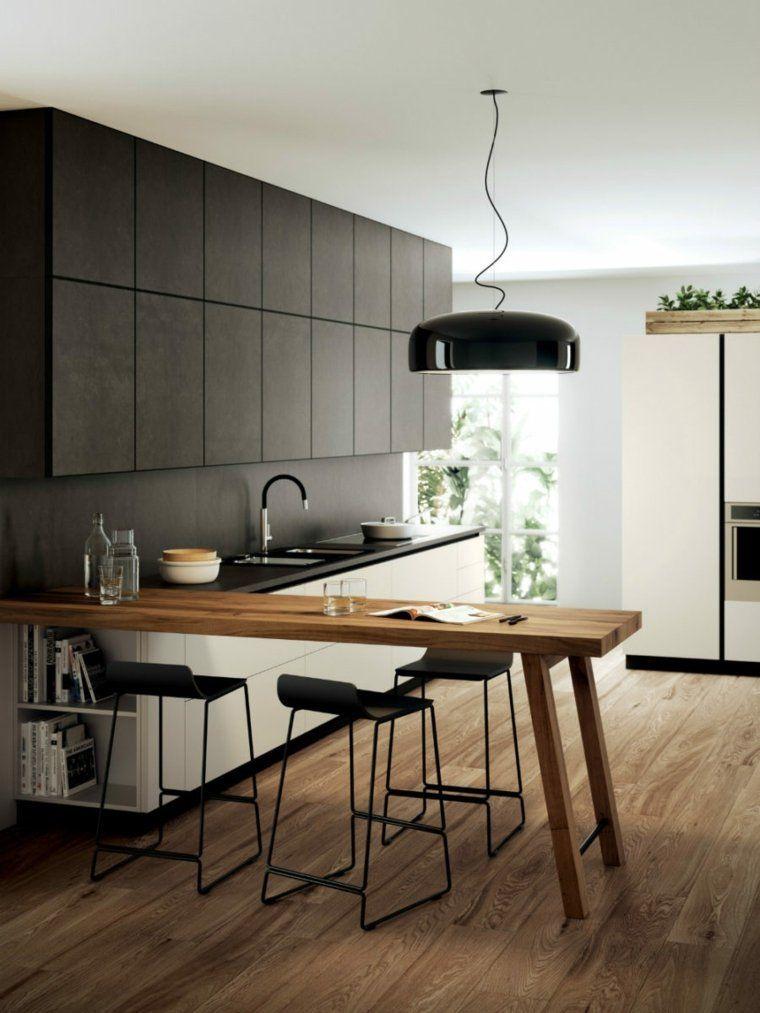 Îlot cuisine design : découvrez la péninsule de cuisine ! | Life ...