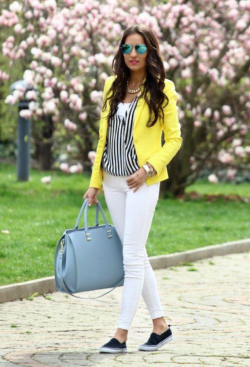 New Street Style Trend Yellow Fashion Fashion Diva Design Buen Gusto D Pinterest