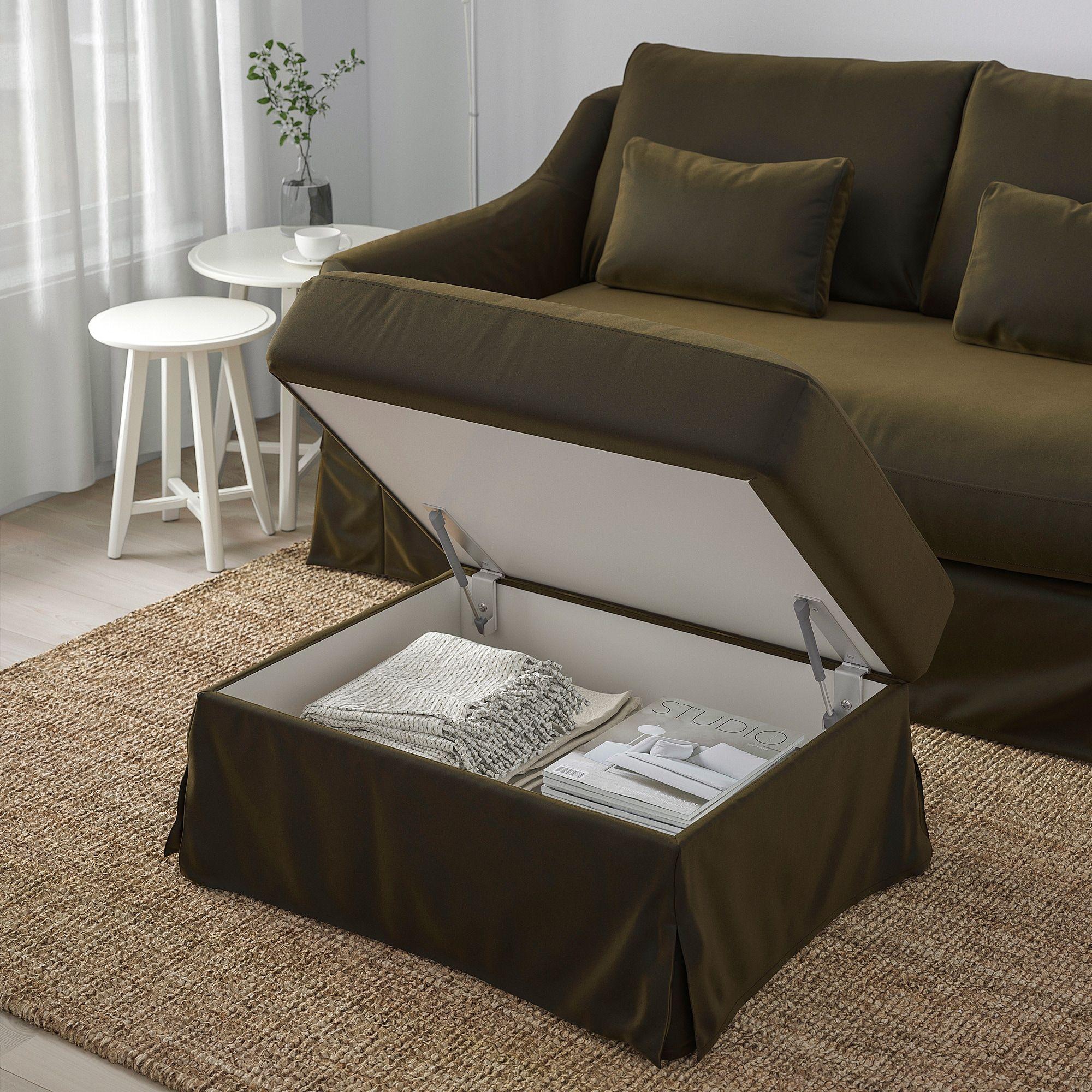Farlov Ottoman With Storage Djuparp Dark Olive Green Ikea In 2021 Storage Ottoman Storage Footstool Ikea [ 2000 x 2000 Pixel ]