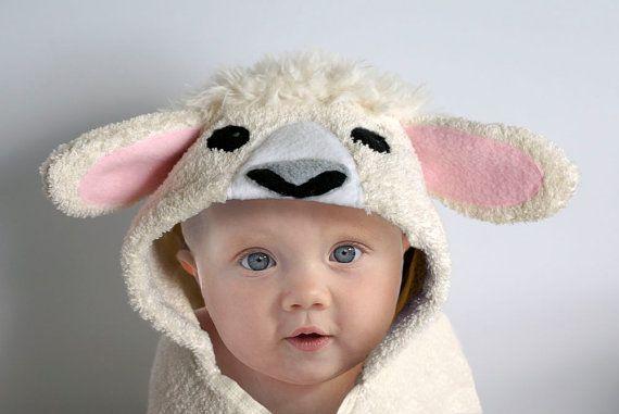 Lamb baby hooded towel sheep hooded towel personalized baby towel lamb baby hooded towel sheep hooded towel personalized baby towel baby gift negle Gallery