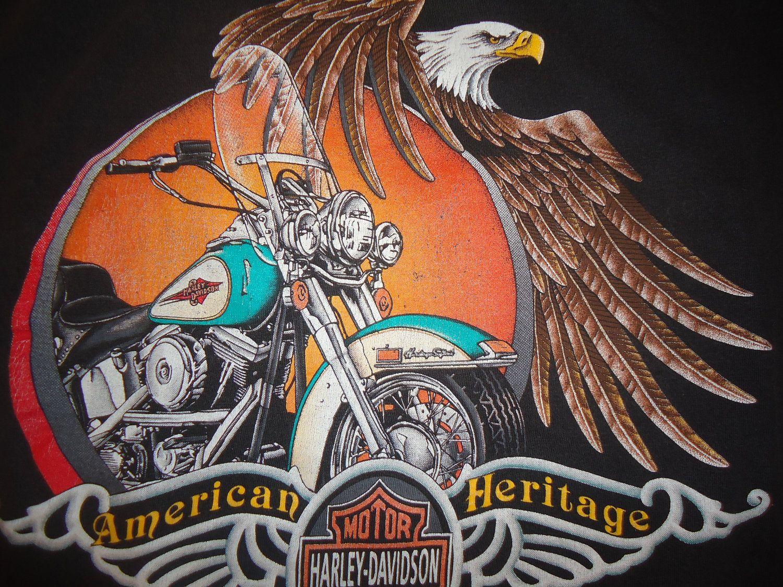 vintage tshirt harley davidson shirt american heritage xl eagle