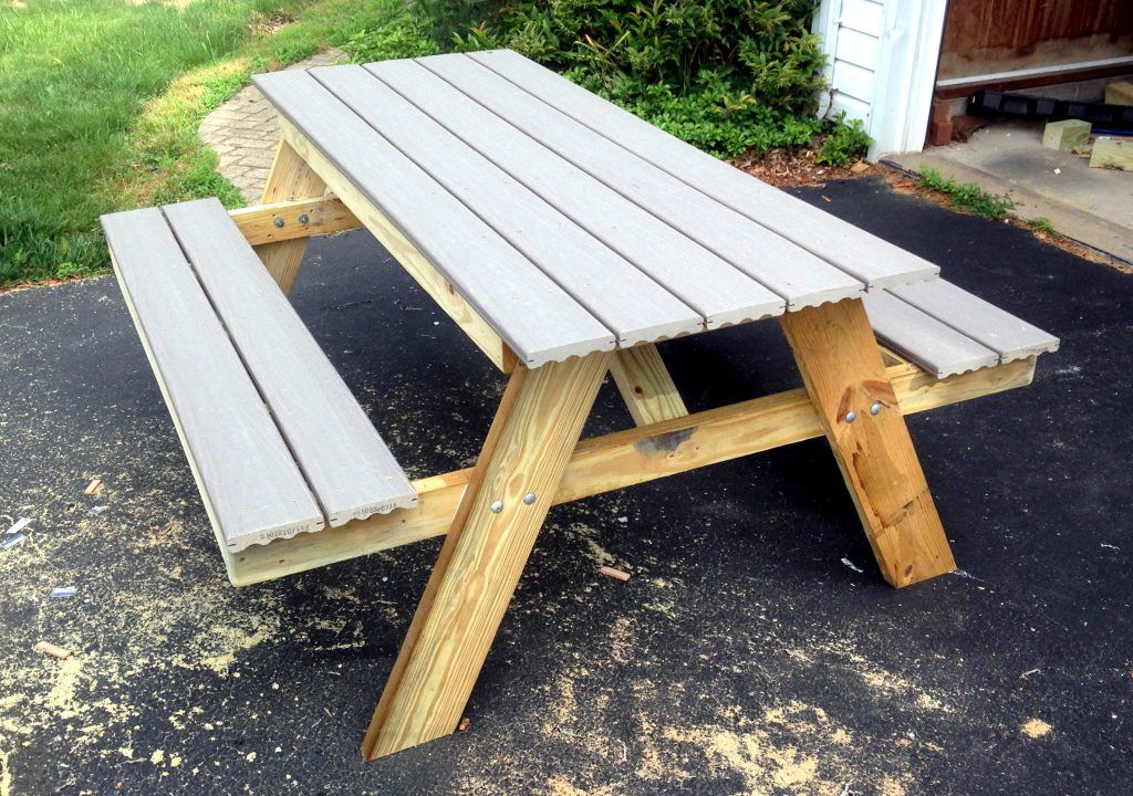 How To Build A Picnic Table In Just One Day For The Home Diy