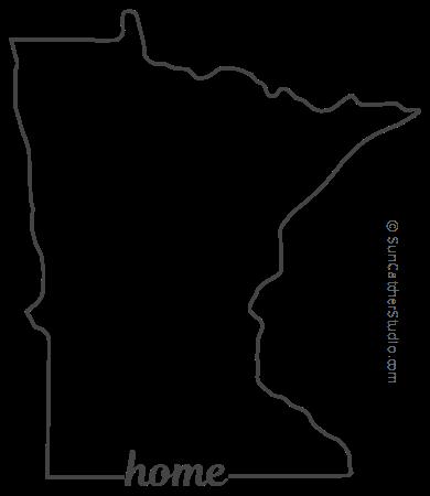 Minnesota Map Outline Printable State Shape Stencil Pattern Map Outline Minnesota Outline Stencils
