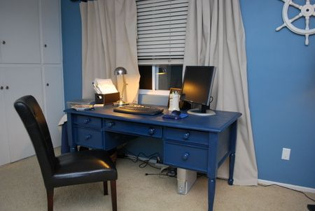 navy blue painted desk google search darby pinterest tv stands repainting furniture and. Black Bedroom Furniture Sets. Home Design Ideas