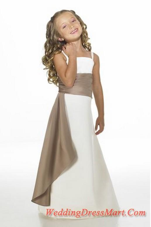 2-tone flower girl dresses