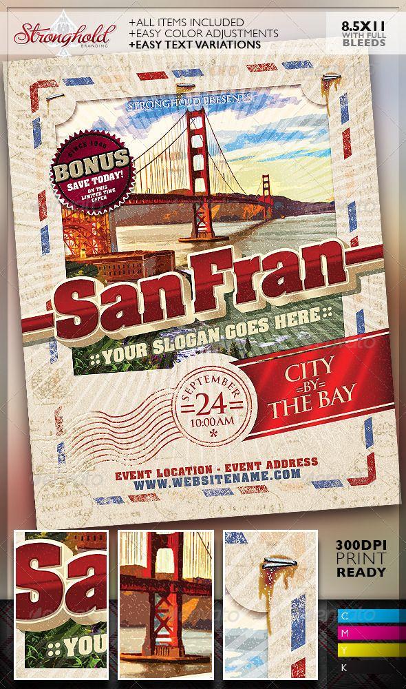 Vintage Travel Postcard Poster Template  Vintage Travel Postcards