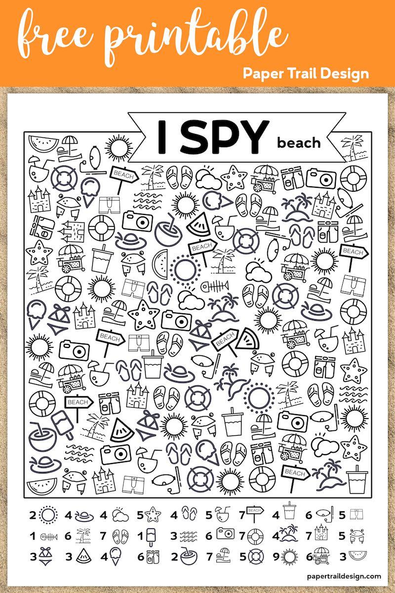 Free Printable I Spy Beach Activity Free Printables Business