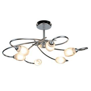Heathcliff 6 light fitting chrome from homebase 4999 heathcliff 6 lamp chrome ceiling light homebase aloadofball Image collections