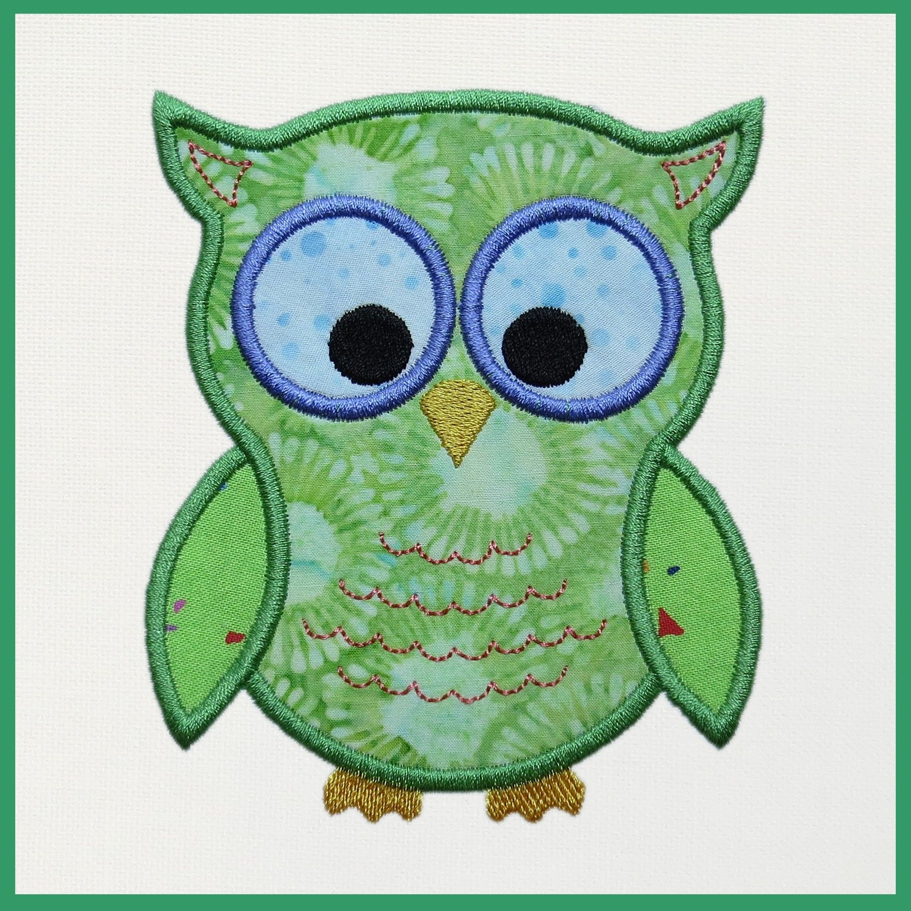 This free machine embroidery appliqué download includes a