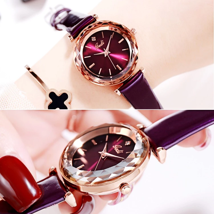 Shining Leather Strap Women S Watch Womens Watches Leather Leather Straps