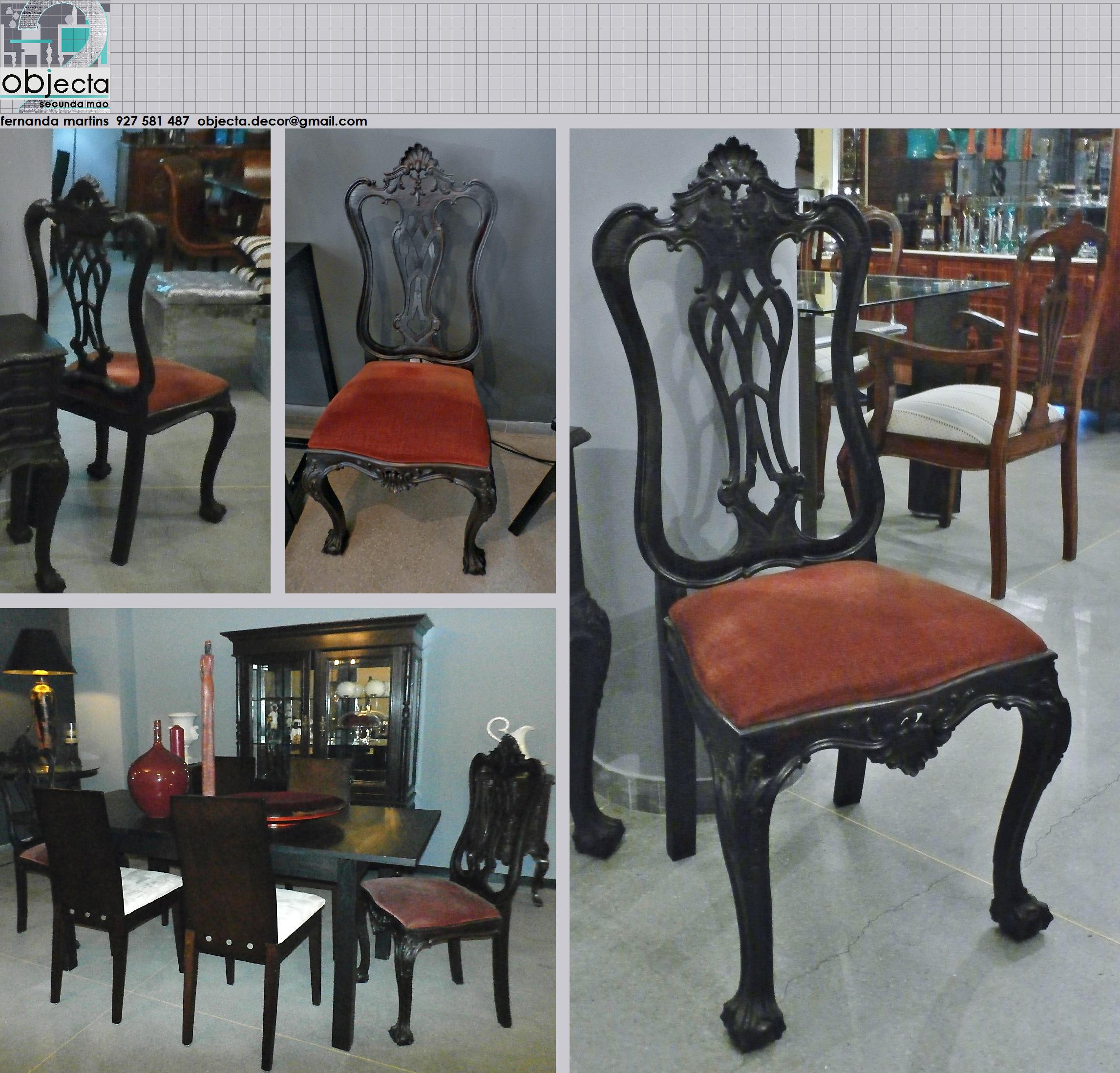 Cadeiras Antigas D Jo O V Par Tamb M Temos Mesas De  ~ Sofa Divã Para Quarto Com Quarto Forrado Com Pvc