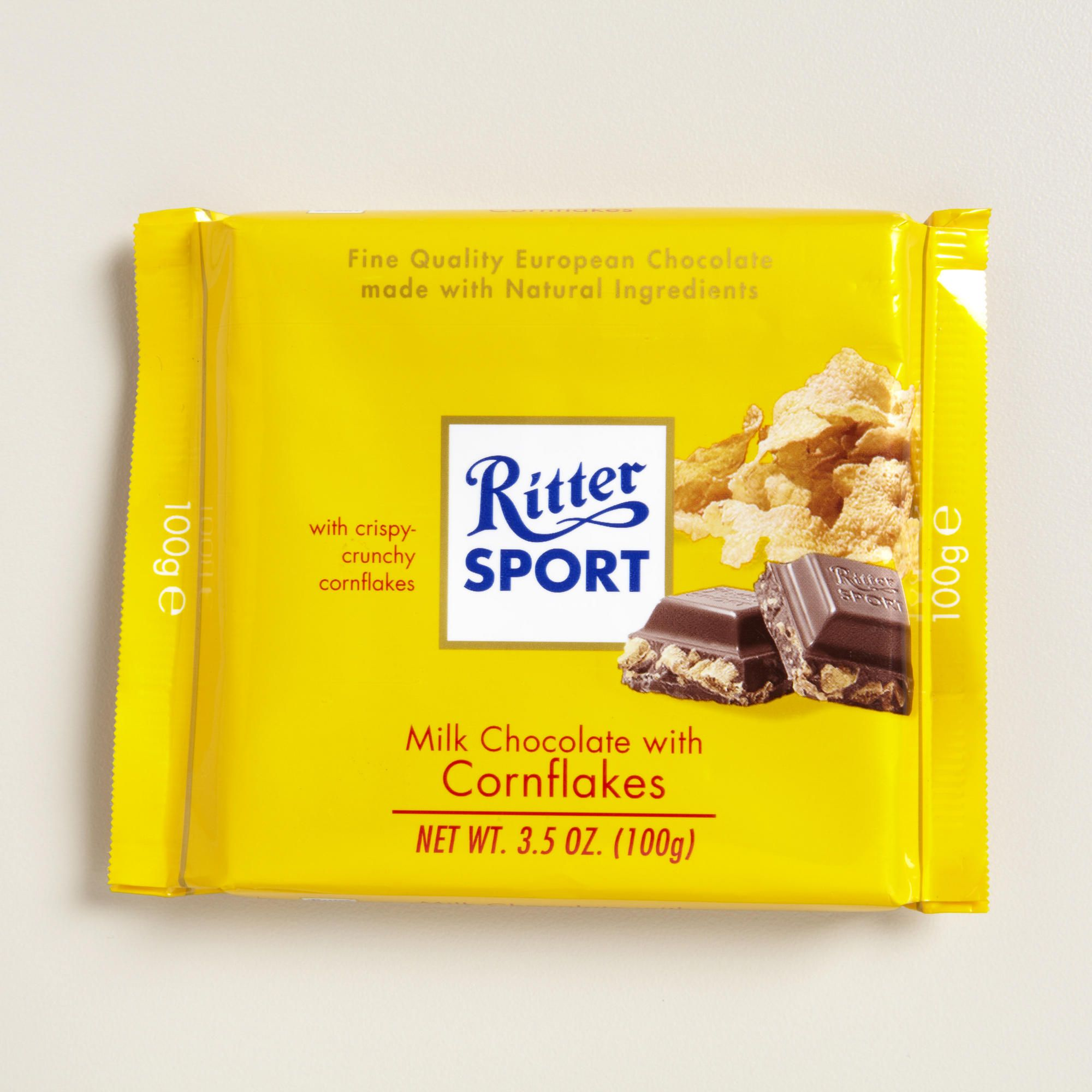 Ritter Sport Milk Chocolate With Cornflakes Pd Chocolate Milk Cornflakes Gourmet Chocolate