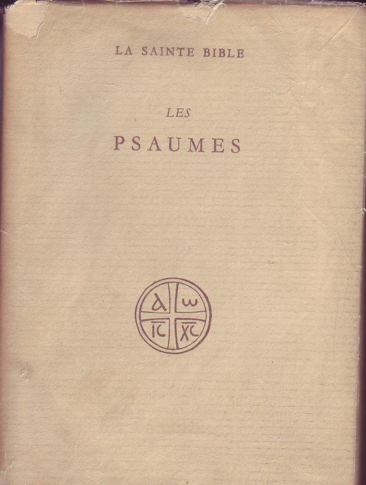 Details Sur La Sainte Bible Les Psaumes R Tournay R Schwab Traduction Psaumes La Sainte Bible Theologie