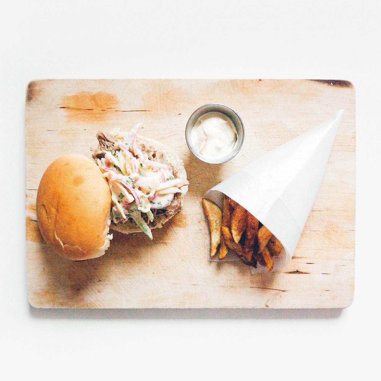 pulled pork sandwich.