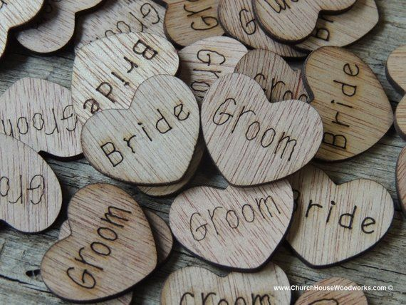 100 Wedding Table Decorations Love Confetti Hollow Rustic Small Wooden Hearts