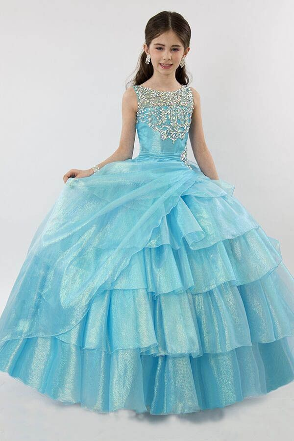 Glitz Flower Girls Pageant Dresses Custom Size 8101214 Party
