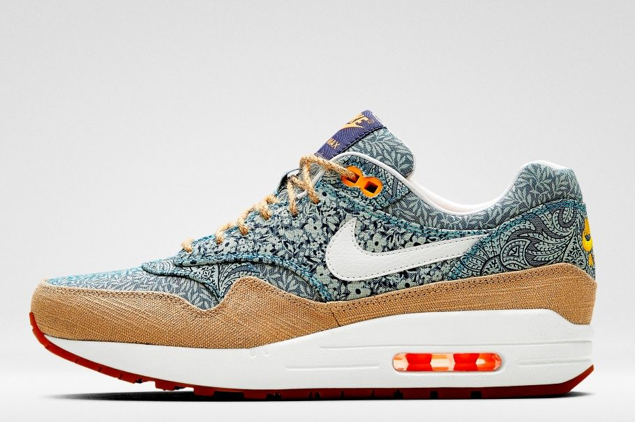 blue liberty print air max 1 trainers