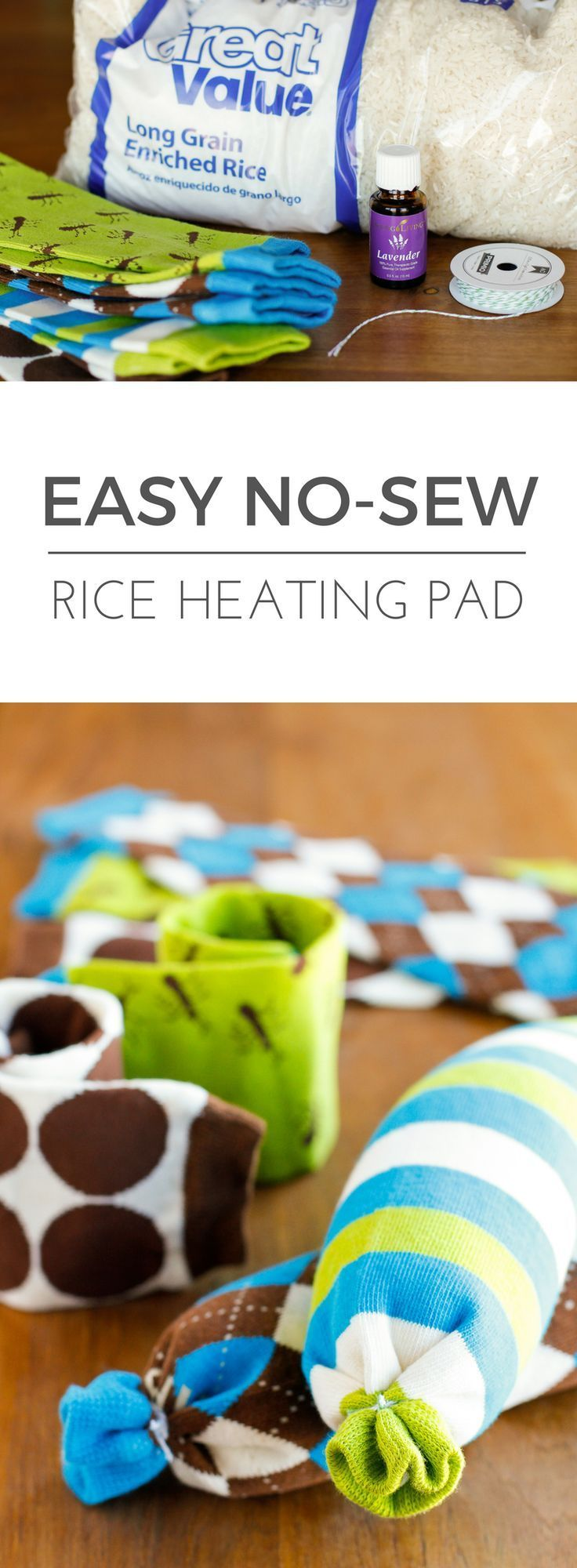 Easy nosew rice heating pad making this homemade