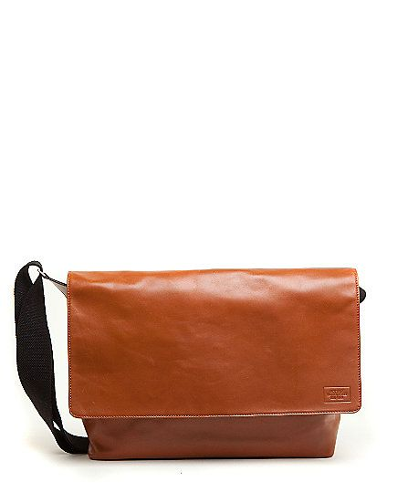 """Jack Spade """"Mill Leather Field Messenger"""" in Tobacco"""