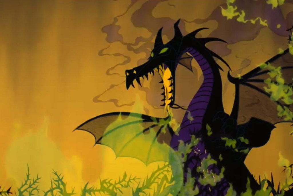 Maleficent as a dragon.