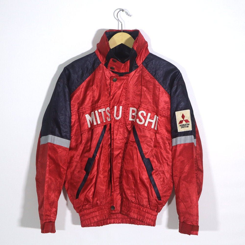 Rare Vintage 80s 90s Mitsubishi Rally Art Jacket Windbreaker Bomber Classic Jacket Fashion Streetwear Racing Nascar F1 Jacket Classic Jacket Retro Jacket Streetwear Fashion [ 1000 x 1000 Pixel ]