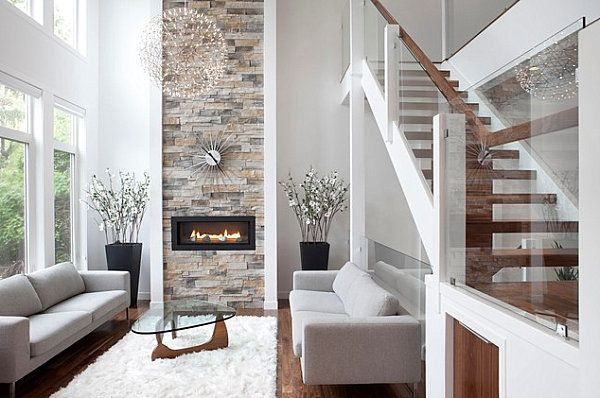 stone fireplaces add warmth and style to the modern home a room rh pinterest com