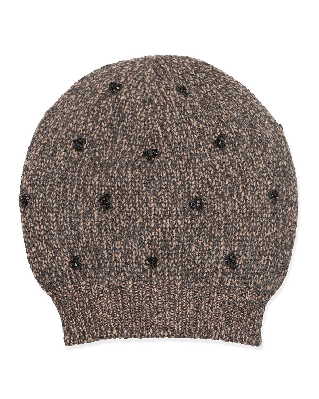 e2b33fbf3ac Brunello Cucinelli Sequin-Cluster Knit Hat