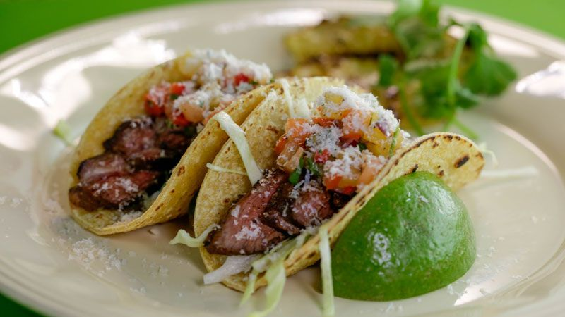Photo of Josh Capon's Skirt Steak Tacos with Charred Pineapple
